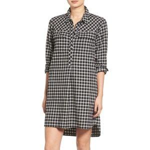 Madewell Latitude Check Shirtdress Flannel M